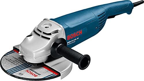 Bosch Professional Winkelschleifer GWS 24-230 JH 230 mm (2400 Watt mit Anlaufstrombegrenzung, Wiederanlaufschutz, im Karton)