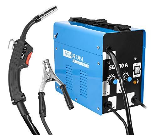 Güde 20071 Fülldraht-schweissgerät SG 130 A (Kühlventilator, Thermoüberlastschutz, Massekabel mit Masseklemme)