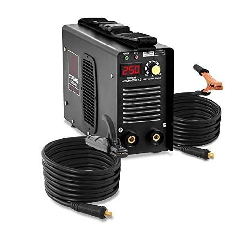Stamos Germany Elektroden Schweißgerät Inverter S-MMA-250PI.2 E-Hand MMA - 250 A - 8 Meter Kabel - Hot Start - PRO