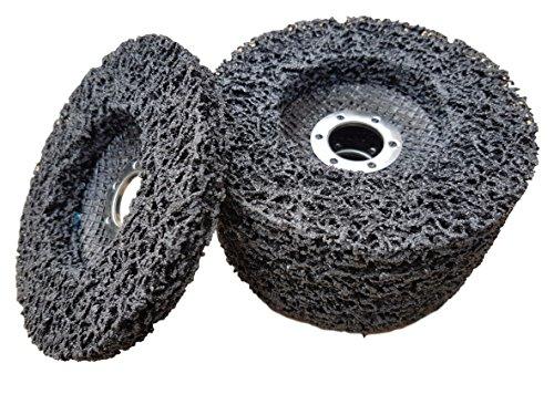 5 x Rostio CSD Scheibe 125 mm schwarz Reingungsscheibe Set   Schleifscheibe Rostentferner für Flex   Winkelschleifer