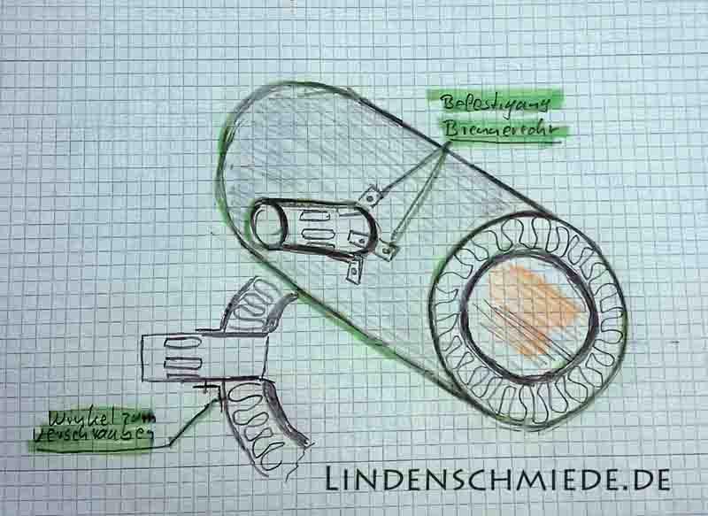Gasesse selber bauen Einfach Skizze